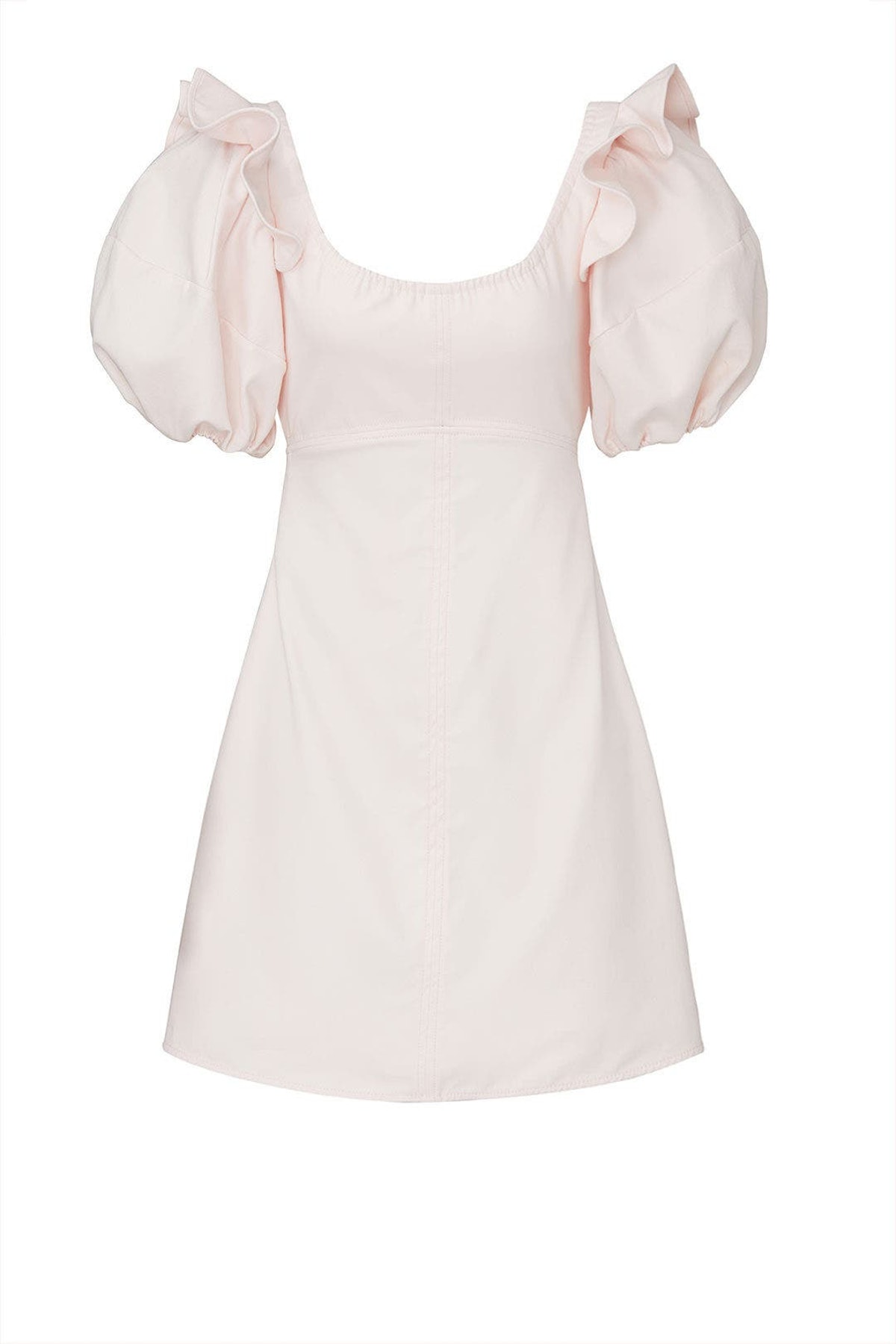 Creme puff sleeve Valeria mini dress from ELLERY, available to shop or rent via Rent The Runway.