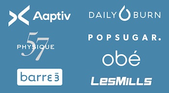 Some of Fitbit's guided workout partners.