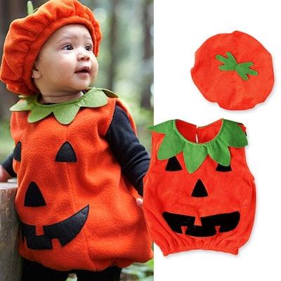 Funcee Baby's Infant Halloween Pumpkin Cutie Pie Costume