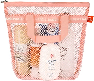 Bags in Bag Mesh Shower Caddy