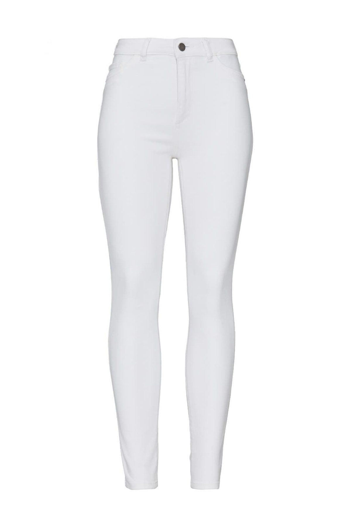 White Farrow high rise jeans from DL1961, available to shop or rent via Rent The Runway.