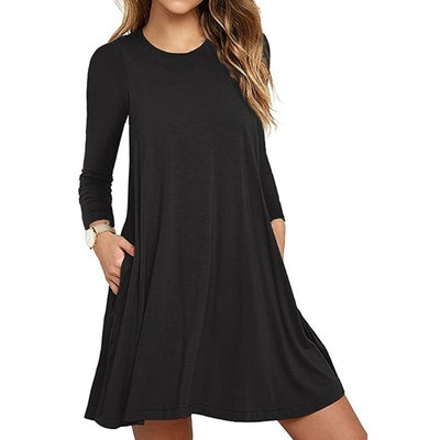 Unbranded Long Sleeve Pocket T-Shirt Dress
