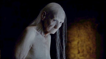 Melisandre's true form as seen in the Game of Thrones Season 6 premiere.
