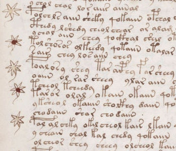 A sample of the text from page 107r.