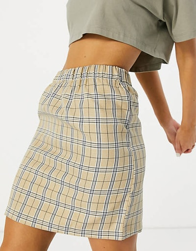 Urban Threads Checked Skirt Co-ord