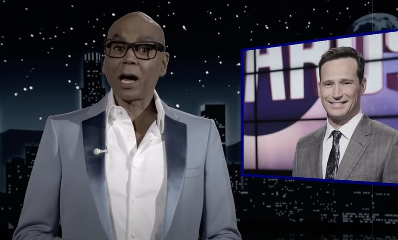 RuPaul talking about Jeopardy! and Mike Richards on Jimmy Kimmel Live!