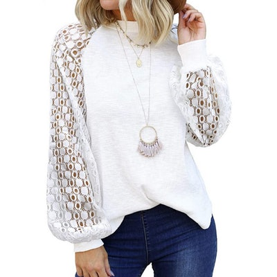 MIHOLL Lace Sleeve Top