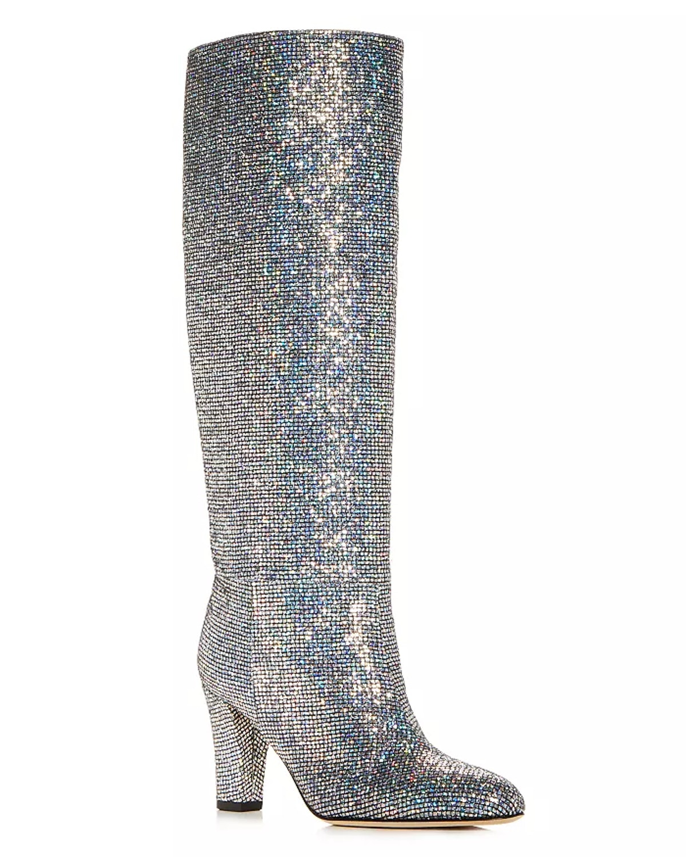 Women's Studio Glitter Pointed Toe High-Heel Boots