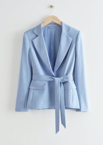 Belted Tailored Blazer Jacket