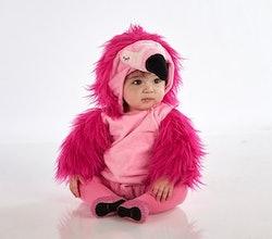 toddler in flamingo halloween costume