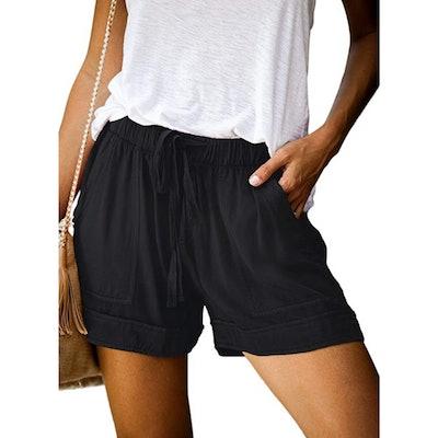 Acelitt Elastic Waist Pocketed Shorts