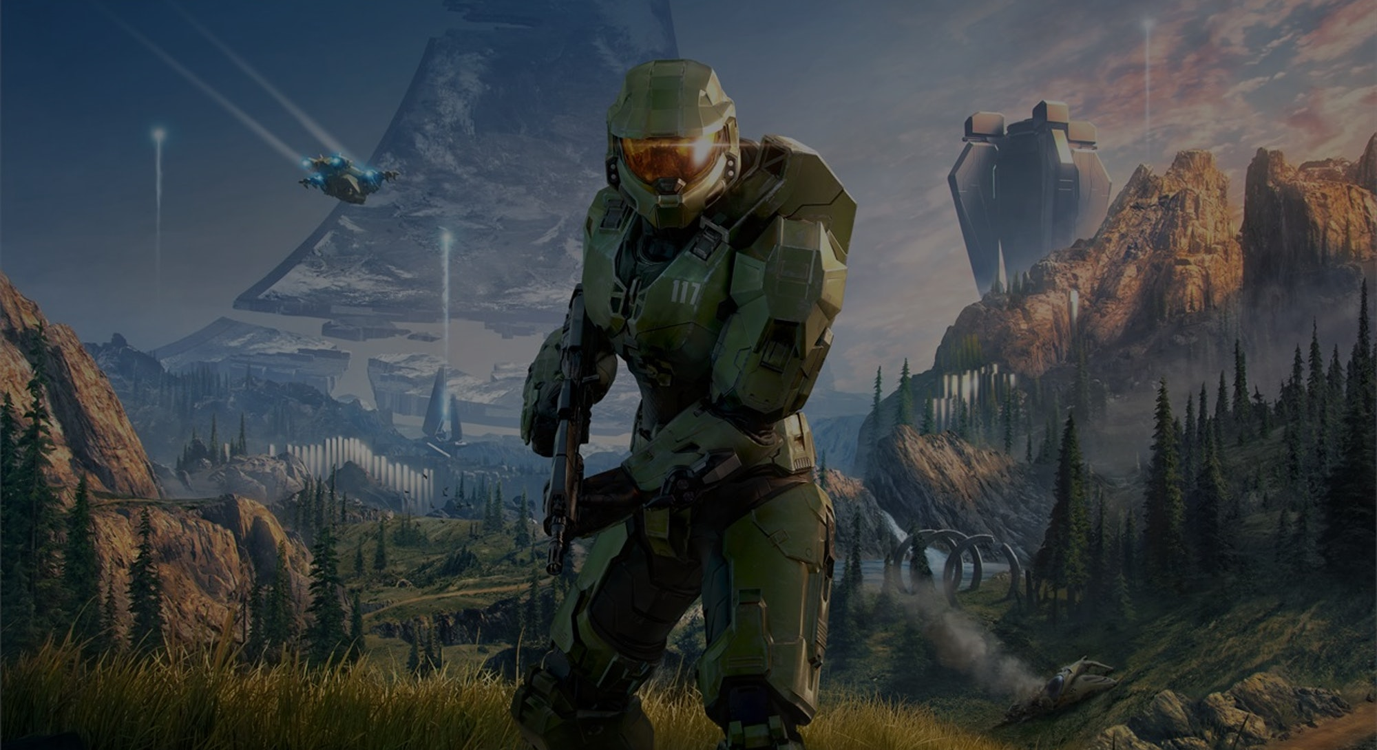 A teaser for Halo Infinite. Games. Gaming. Video games.