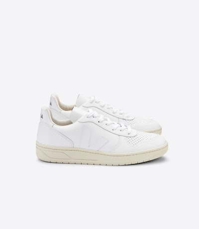 V-10 Leather White Trainers