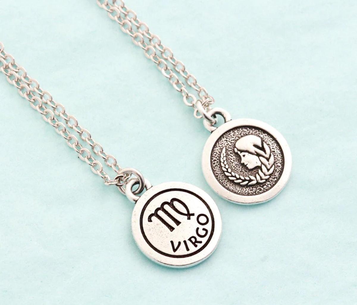 JacarandaDesigns Silver Virgo Necklace