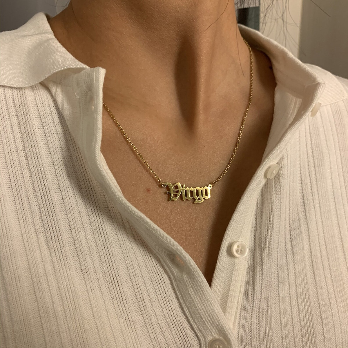 There are tons of virgo necklaces featuring dainty, cute designs to give to the virgo in your life