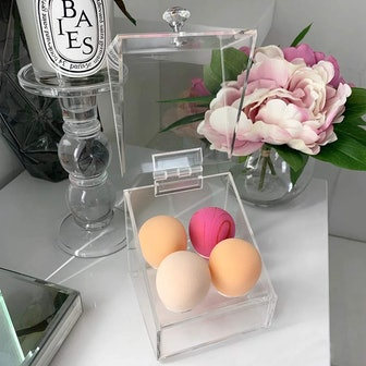 LUGUNU Acrylic Beauty Blender Sponge Holder