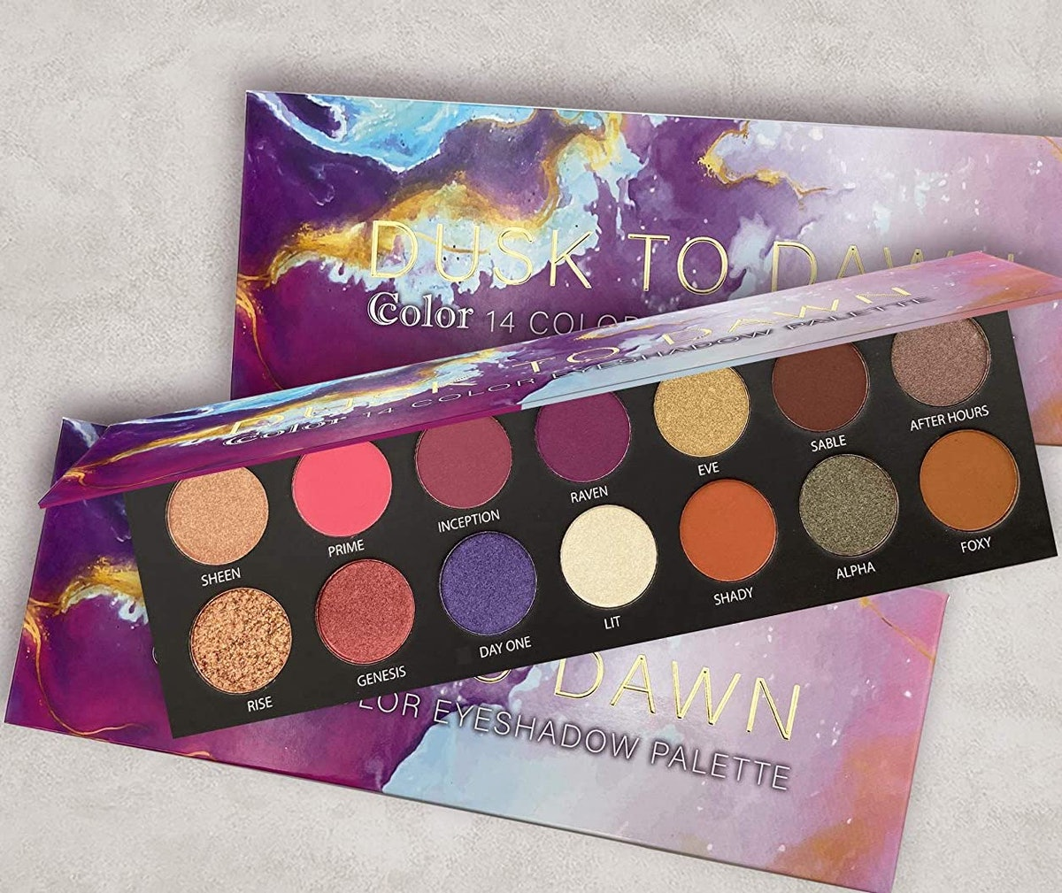 Ccolor 14 Color Eyeshadow Palette Dusk To Dawn