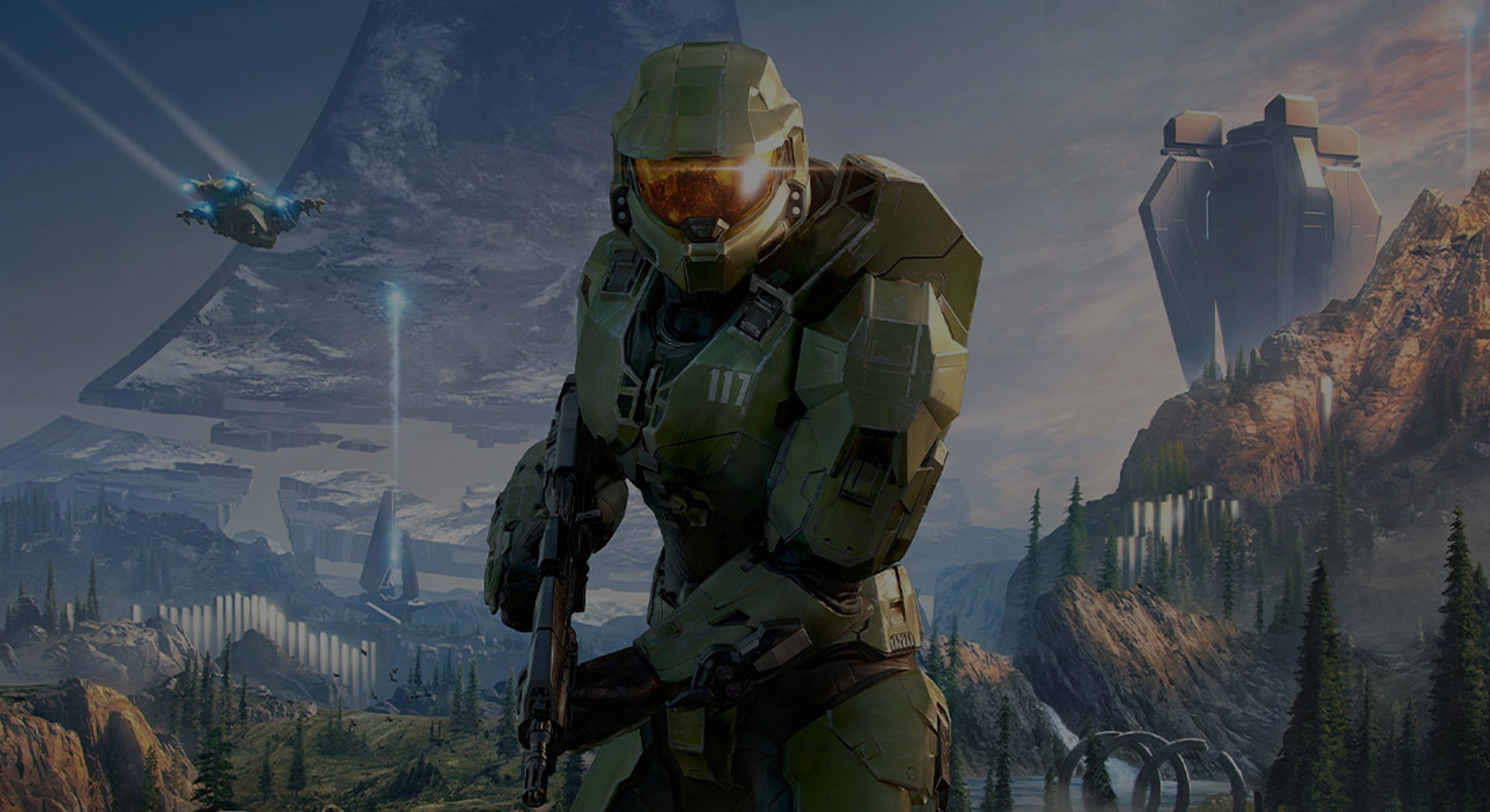 illustration of Master Chief from Halo Infinite