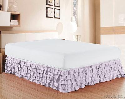 Elegant Comfort Microfiber Multi-Ruffled Bed Skirt