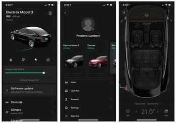 Tesla has updated its mobile app that drivers use to control functions in their cars.