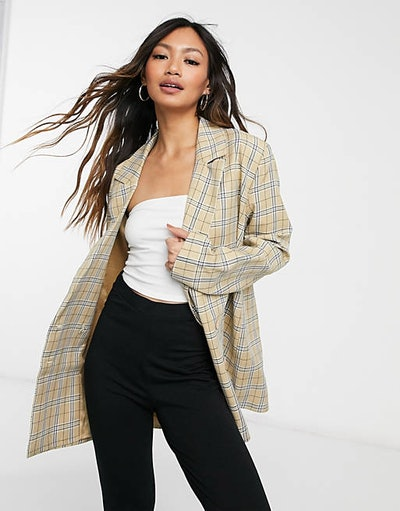 Urban Threads Oversized Double-Breasted Blazer Co-ord