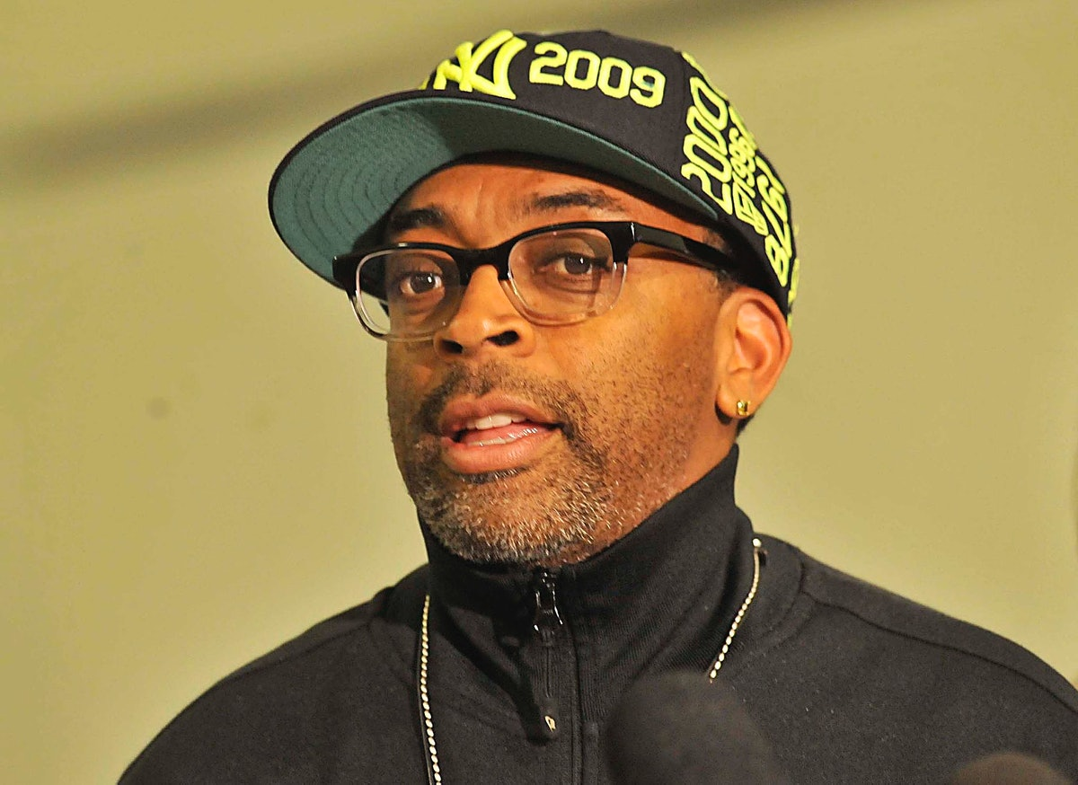 Spike Lee in a hat.