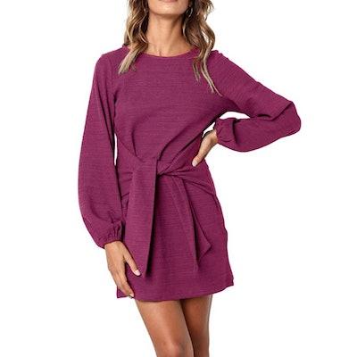 R.Vivimos Knitted Tie Waist Dress