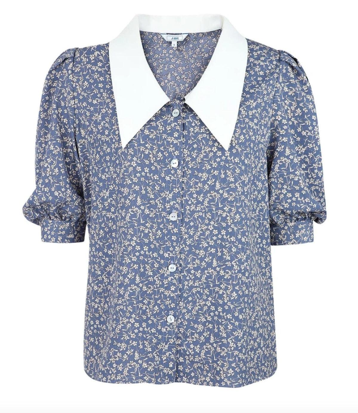 J.ING's Wellesley Floral Collar Blouse.