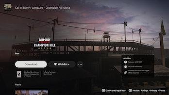 call of duty vanguard alpha playstation store
