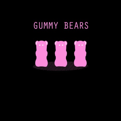 Gummy bears are household items used before anal play.