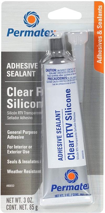 Permatex 80050 Clear Silicone Adhesive, 3 Oz.