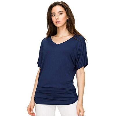 Made By Johnny Dolman Top with Side Shirring
