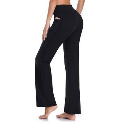 HISKYWIN Workout Yoga Pants With Pockets