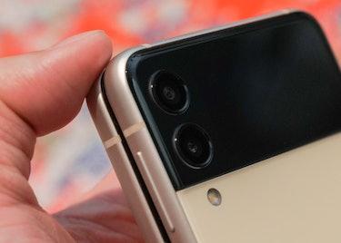 The Galaxy Z Flip 3 has the same camera sensors as previous Z Flip foldables.