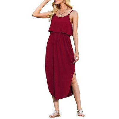 LILBETTER Adjustable Split Midi Dress