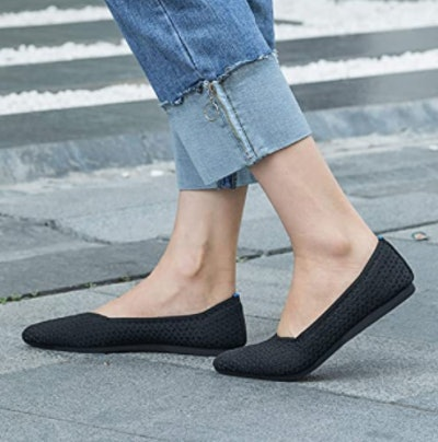 Frank Mully Pointed Toe Knit Ballet Flats