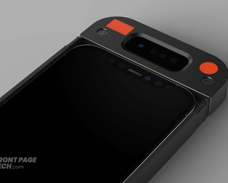 A rendered image of the Face ID prototype