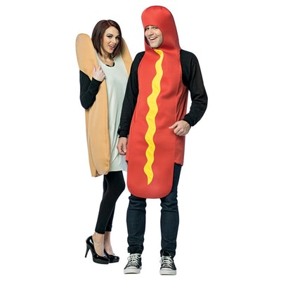 Hot Dog and Bun Couples Costume, Unisex Party Costumes, Adult One Size