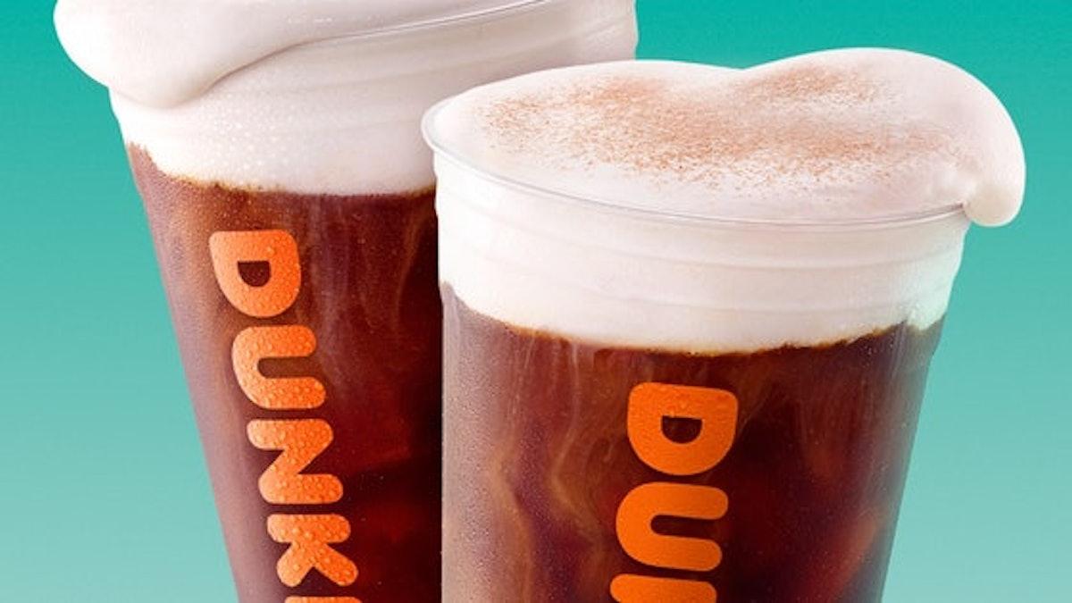 Here's how Starbucks versus Dunkin's Pumpkin Cream Cold Brew compare.