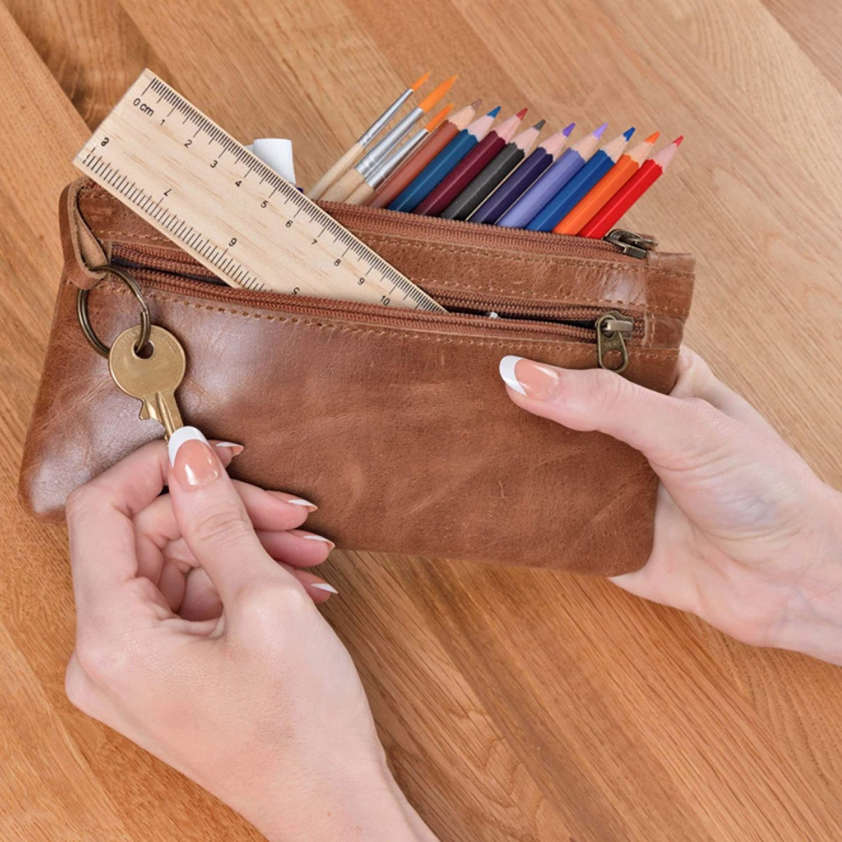 Moonster Leather Pencil Case