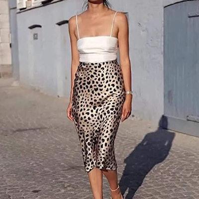Soowalaoo Leopard Print Skirt