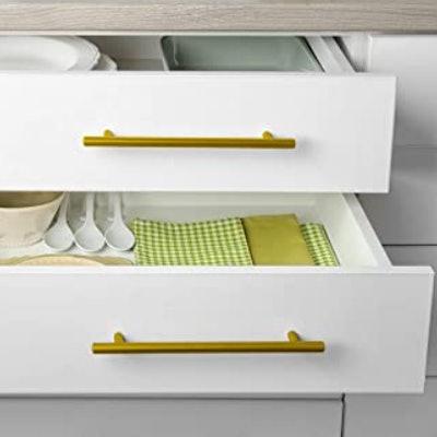 goldenwarm Brushed Brass Cabinet Pulls  (10-Pack)