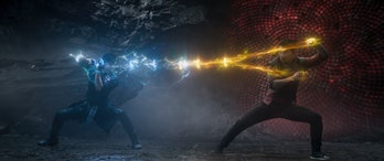Tony Leung and Simu Liu in Shang-Chi and the Legend of the Ten Rings