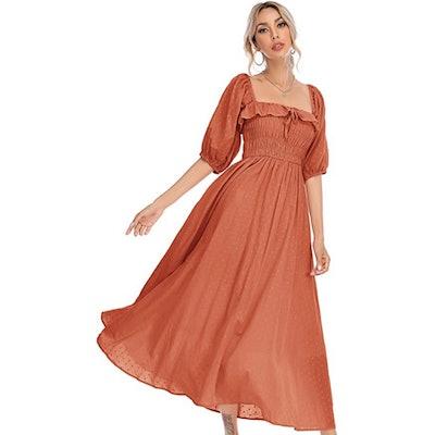 R.Vivimos Half Sleeve Cotton Dress
