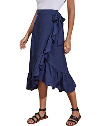 SheIn Wrap Midi Skirt