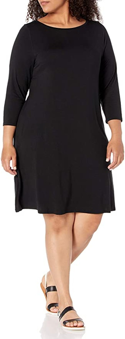 Amazon Essentials Plus Size 3/4 Sleeve Boatneck Dress