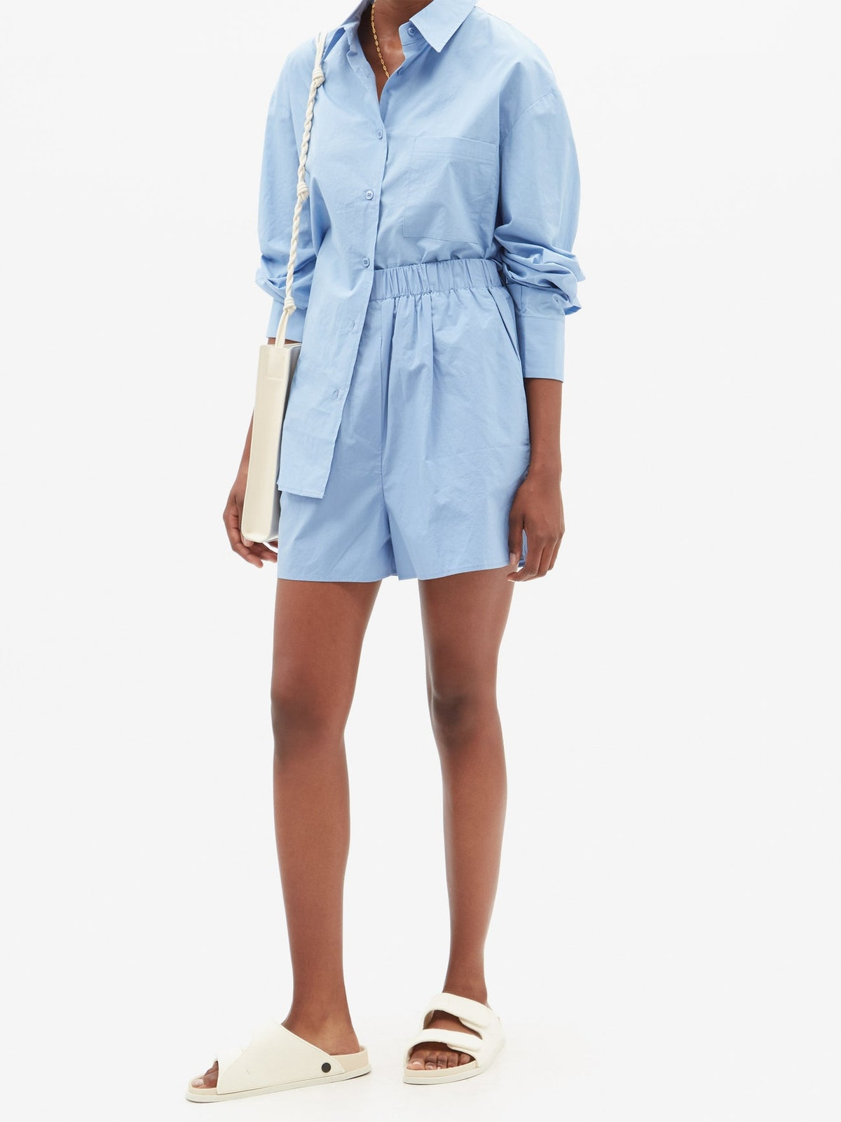 Lui Organic Cotton-Poplin Boxer Shorts