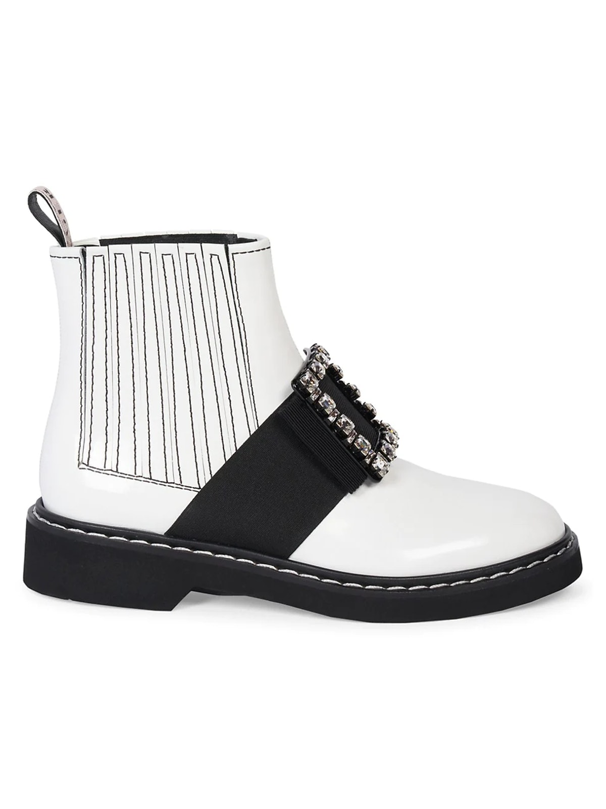 Viv Rangers Leather Chelsea Boots from Roger Vivier, available to shop on Saks Fifth Avenue.