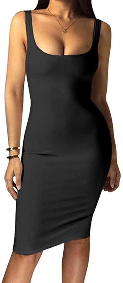 LAGSHIAN Bodycon Midi Dress