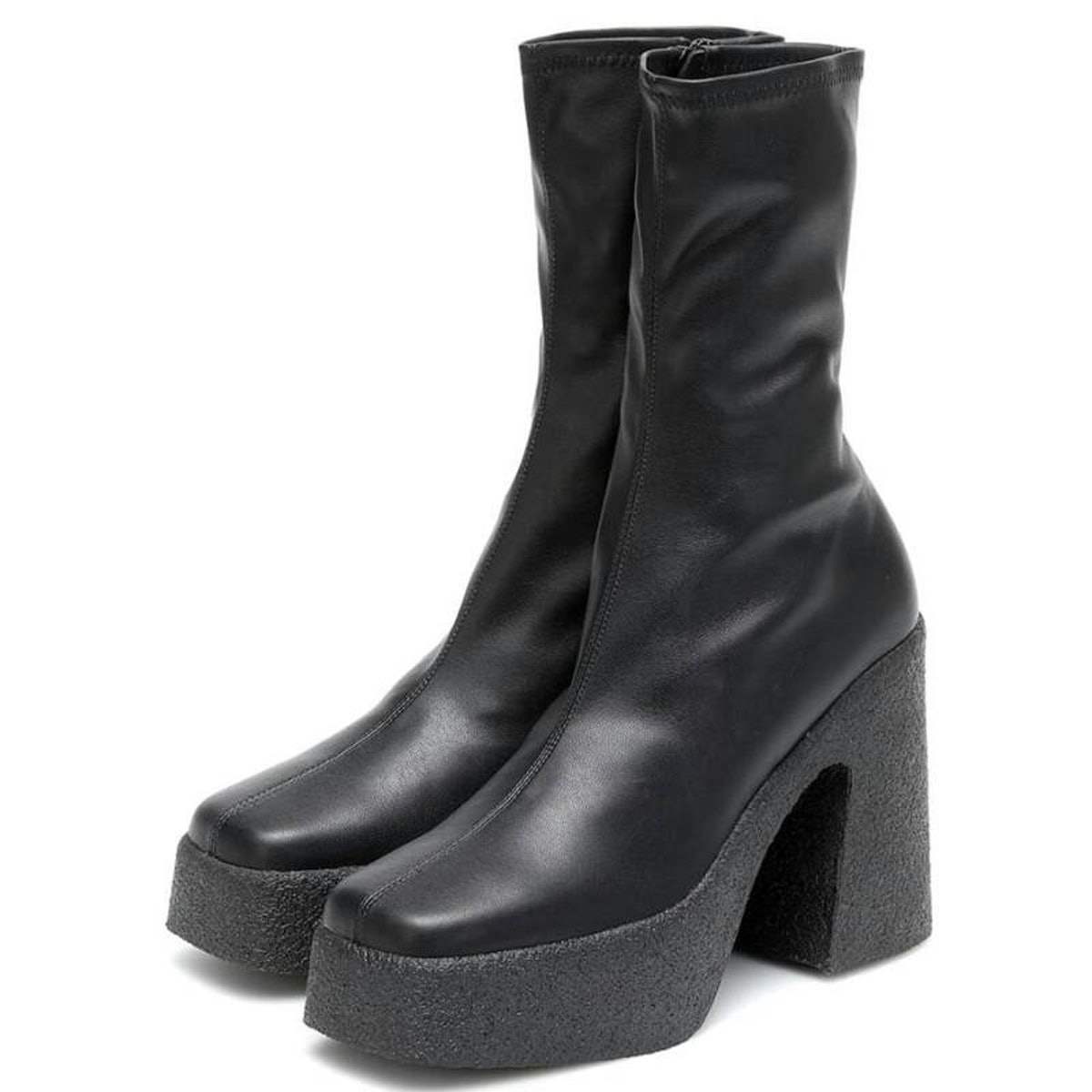 Platform Elastic Sock Stretch High Women Ankle Brand Designed Short Boots Chunky Heel Shoes Party Bo...